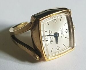 Beautiful Vintage Felicitas Neuchatel 17 Jewels Womens Mechanical Ring Watch