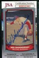 Red Schoendienst 1990 Pacific JSA Coa Autograph Authentic Hand Signed