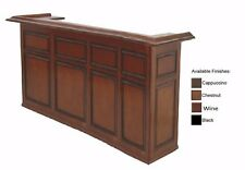 7' Home Bar w/ Chestnut Finish and Free Shipping