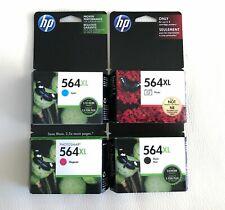 New HP 564XL XL Ink 4X Cartridge Set - CYAN, MAGENTA, BLACK, PHOTO - GENUINE