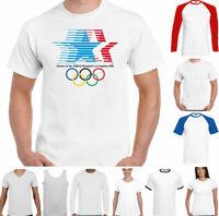 Los Angeles 1984 T-Shirt Mens 84 Olympic Games Retro Sport Athletics LA USA Top