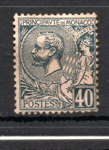Monaco (4924) 1891  Prince Albert     40c  Black on Pink  Mounted mint  Sg17