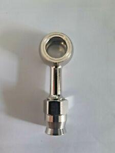 Raccordo con occhiello dritto acciaio recuperabile per tubo freno Brembo