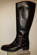BARNEYS NEW YORK  Riding Boots Black Leather size 10 made in Italy