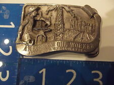 Vintage Belt Buckle American Oil Worker Commemorative Limited Edition 1986