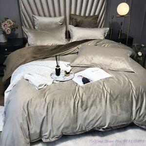 Bedding Set Thick Duvet Cover Silk Velvet Flannel Double-sided  Coral Bedsheet
