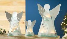 Glas Engel mit Teelichthalter 15 cm (h) Engel Teelichthalter Kerzenhalter Gilde
