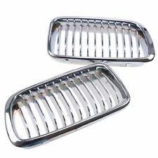For BMW E38 740/750 7series 99-01 Sedan 4D Chrome Front Kidney Grill Grille hood