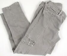 White House Black Market Gray NOIR jeans Size 4 R Skinny Slim Ankle Length