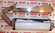 2007 Ducati 848 1098 PR exhaust muffler silencers 50mm LONGER = quiet track day