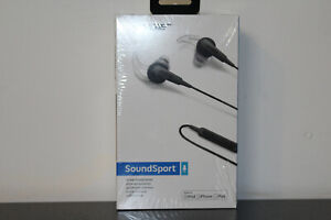 Bose SoundSport In-Ear Wired Headphones For iPad, iPhone, iPod - Charcoal - NEW!