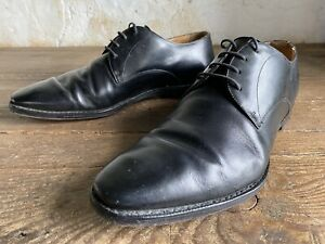 Vintage Church`s Sawley Black Leather Shoes Great Condition Size 45. UK 10.5
