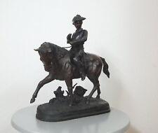 Benje Bronze Reiter auf Pferd Reiterstandbild Military Horse 17,7 Kilo 40er J.