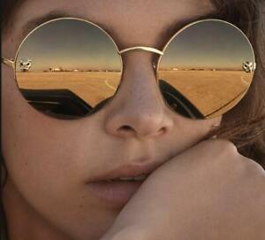 Authentic Cartier Gold CT 0022 S Women's 002 Round Sunglasses