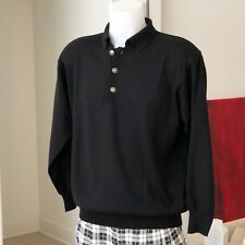 Versace Classic V2 long-sleeved men's sweater in wool merinos with polo collar M