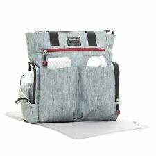 Eddie Bauer Heather Grey Tall Tote Diaper Bag
