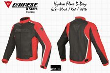 SALE DAINESE HYDRA FLUX D-DRY JACKET BLACK RED WHITE EU 50 US 40