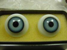 Pe909/antique mundgeblasene bleu yeux 2,2 CM