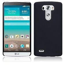 Per LG g3 ibrido gommata Hard Back Case Cover-SOLID BLACK