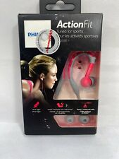 Philips ActionFit Sports Earhook Headphones SHQ3200PK/28 PINK & GREY -SEALED BOX