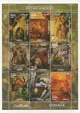 MICHELANGELO HIGH RENAISSANCE BIBLICAL ART SOMALIA 2001 MNH STAMP SHEETLET
