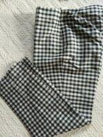RALPH Ralph Lauren Silk Capri Pants Black White Check Gingham Crop Size 2 or 4