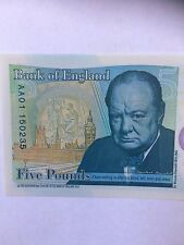 COINS 5 POUND BANK OF ENGLAND NEW POLYMER NOTE AA01....