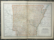 Antique Map Of Arkansas Woodruff Montgomery Little Rock Johnson Conway 1903