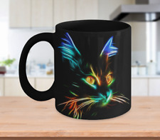 Lighting Cat Mug Version Black - 11oz Coffee Mug Tea Cup Gift