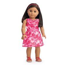 💕 American Girl Doll Rojo Vestido de volantes Corazones Set Nuevo en Caja retirado 💕