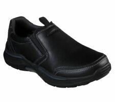 Loafer Skechers Extra Wide Fit Black Shoes Men Memory Foam Slip On Comfort 66297