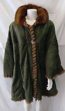 giacca jacket donna vera pelle e pelliccia visone  taglia 48