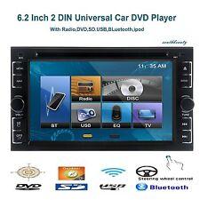 "Double 2 Din 6.2"" Stereo Car DVD CD Player Bluetooth IR Radio SD/USB MP3 Ipod TV"