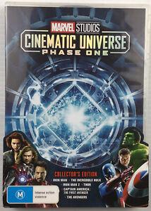 Marvel Studios Cinematic Universe Phase One 1 DVD Iron Man Thor Hulk Avengers R4