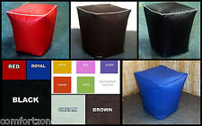 Tall Faux Leather Beanbag Footstool Bean Bag Foot Stool Rest Seat Wipe Clean