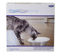 Fresh Flow Purifying Petmate Fountain Stainless Steel Filter Cat Water Dish