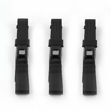 Chevy Bel Air 1955 - 1957 Standard 2pt Black Lap Bench Seat Belt Kit - 3 Belts