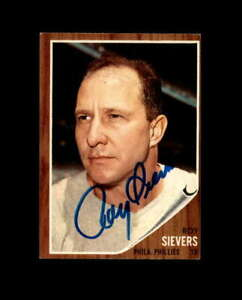 Roy Sievers Hand Signed 1962 Topps Philadelphia Phillies Autograph