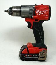 "Milwaukee 2804-20 M18 1/2"" 18V Hammer Drill Driver w/ [1] Battery"