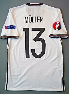 Muller Germany Jersey 2016~2017 Home M Shirt Player Issue Adizero Trikot ig93