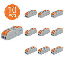 10Pk 2-Way Spring Lever Wire Connector Line Connection for Light Lamp Lighting