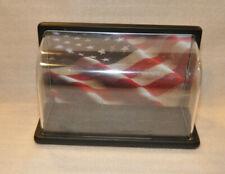 Rare Franklin Mint Harley Davidson Display w/ Flag Only, for 1:10 Scale Bike