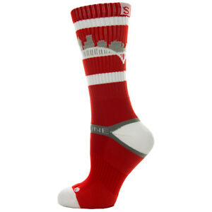 Strideline Athletic Crew Socks Portland Sharp Red 802311 Strapped Fit Men's