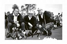 ARNOLD PALMER & JACK NICKLAUS & GARY PLAYER SIGNED A4 PP POSTER PHOTO 1