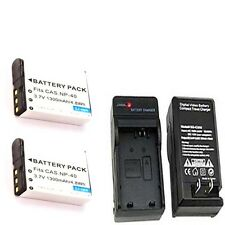 2 NP40DBA Batteries +Charger for Casio EX-Z1200 EX-Z1200BK EX-Z1200SR EX-FC150BK