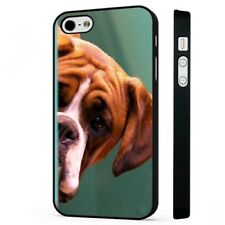 Boxer Dog Cute Funny BLACK PHONE CASE COVER fits iPHONE