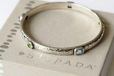 Silpada Sterling Silver Amethyst Garnet Topaz Gemstone Bangle Bracelet B1698 HTF