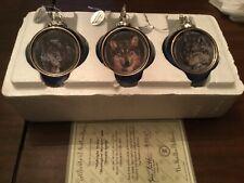 9 Bradford Editions Mystic Spirit Heirloom Porcelain Ornaments Wolf Christmas