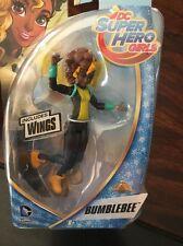 "DC Superhero Girls Action Figure BumbleBee 6"" Figure Includes Wings DC Comics"