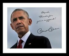 Barack Obama 11x14 Personalized Photo Print YOUR name customize Signed Autograph